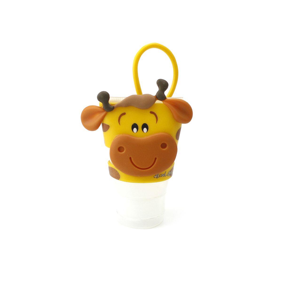 Chaveiro Plugt Girafa Amarelo + Frasco 30ml