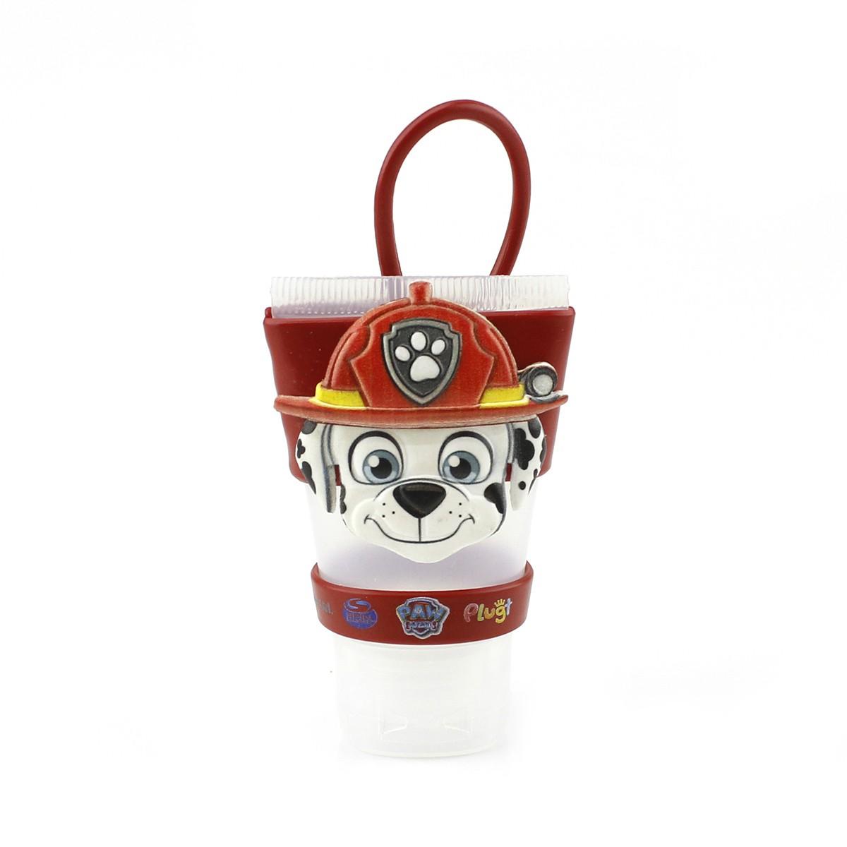 Chaveiro Plugt Patrulha Canina Marshall Vermelho + Frasco 30ml