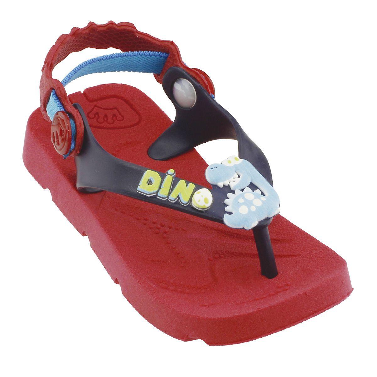 Chinelo Plugt Beach Dino Vermelho