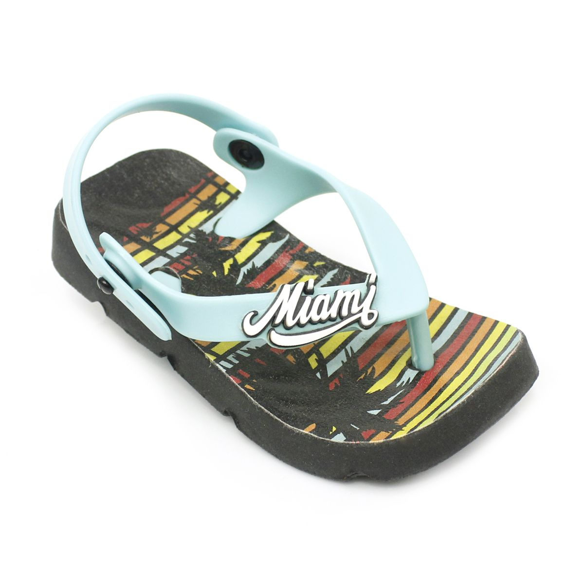 Chinelo Plugt Beach Miami Preto