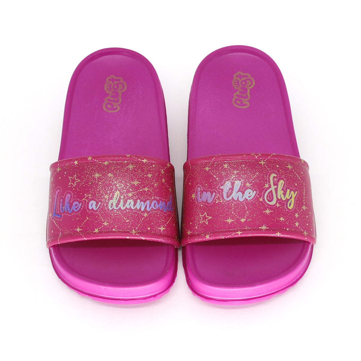 Chinelo Plugt Slide Constelação Pink