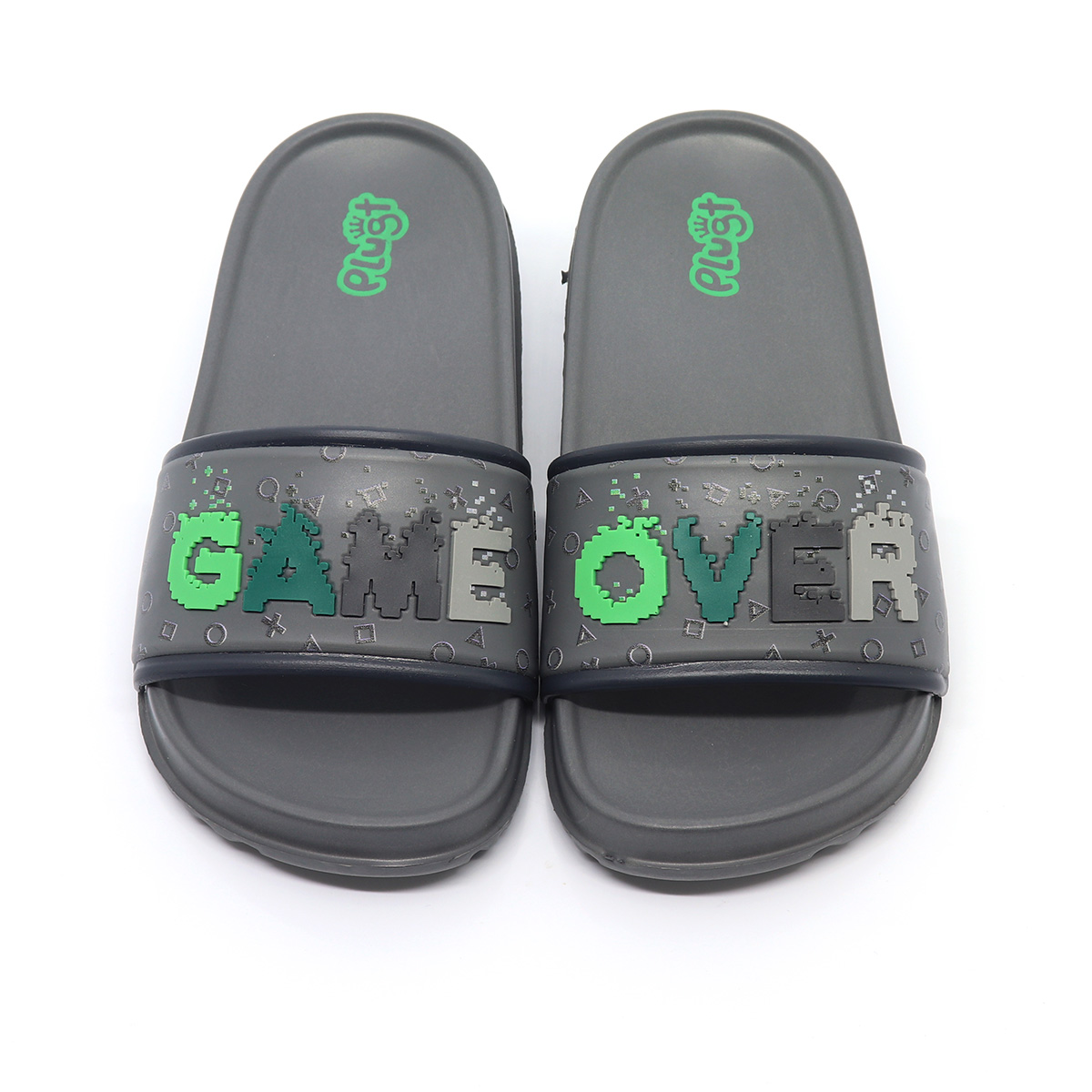 Chinelo Plugt Slide Game Over Grafite