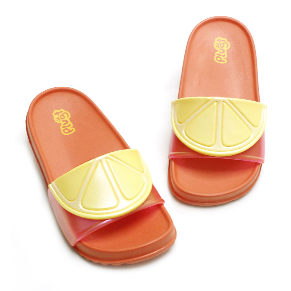 Chinelo Plugt Slide Limão Coral