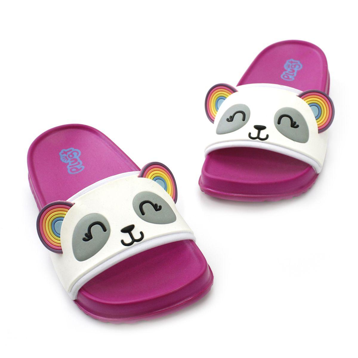 Chinelo Plugt Slide Panda Pink