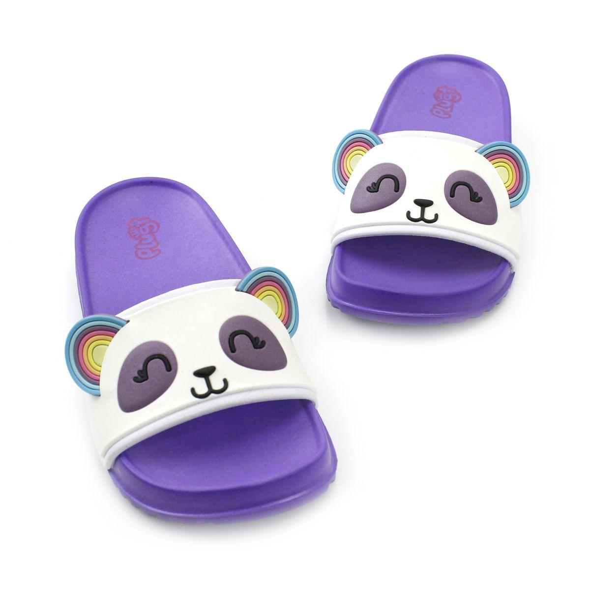 Chinelo Plugt Slide Panda Roxo