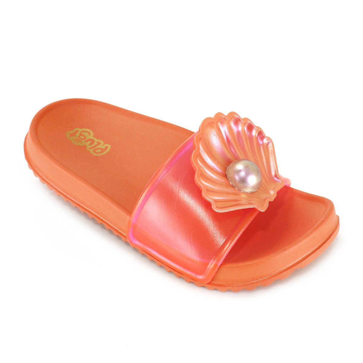 Chinelo Plugt Slide Sereia Concha Coral
