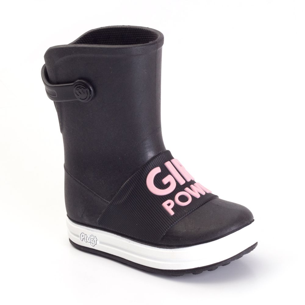 Galocha Plugt Acqua Girl Power Preto