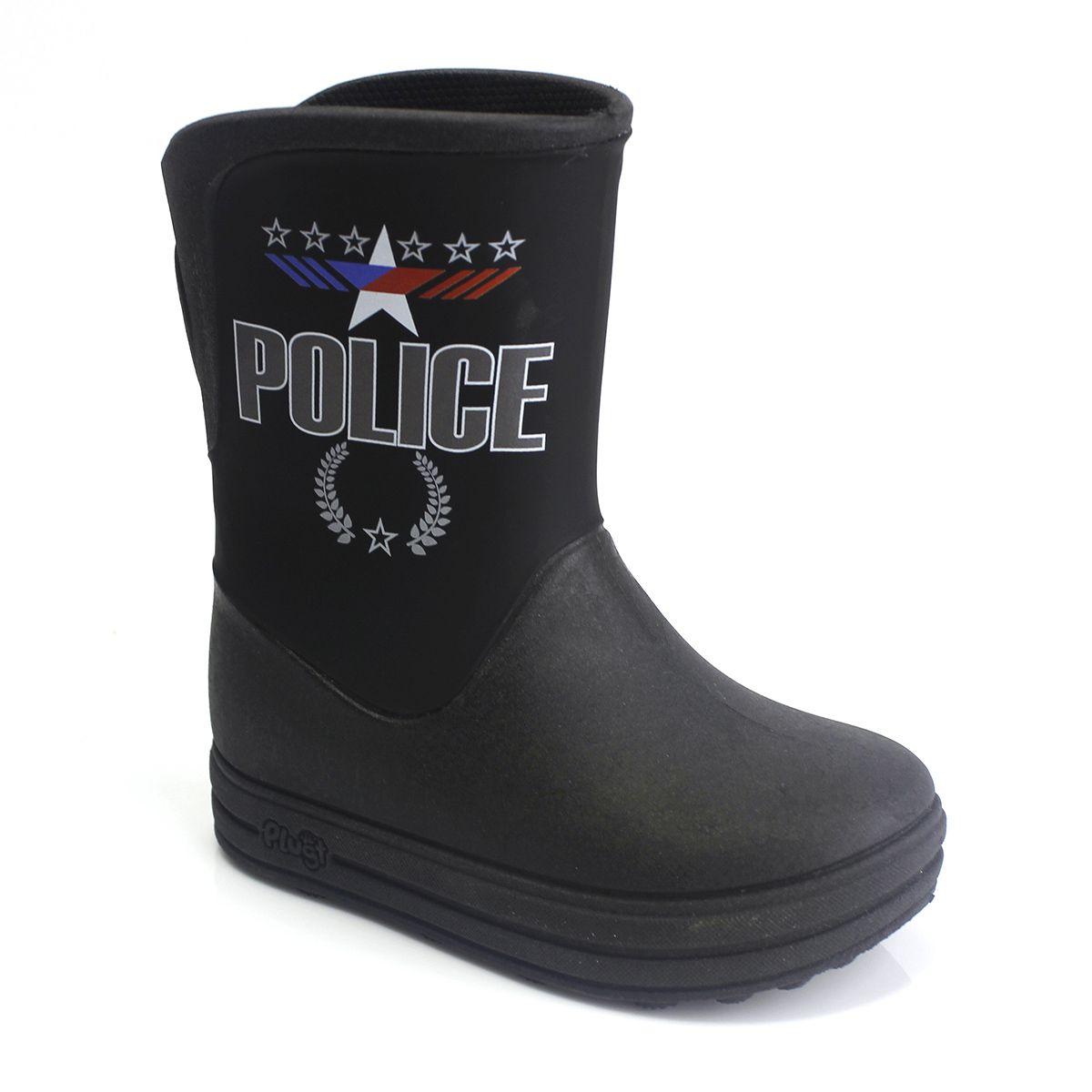 Galocha Plugt Acqua Police Preto