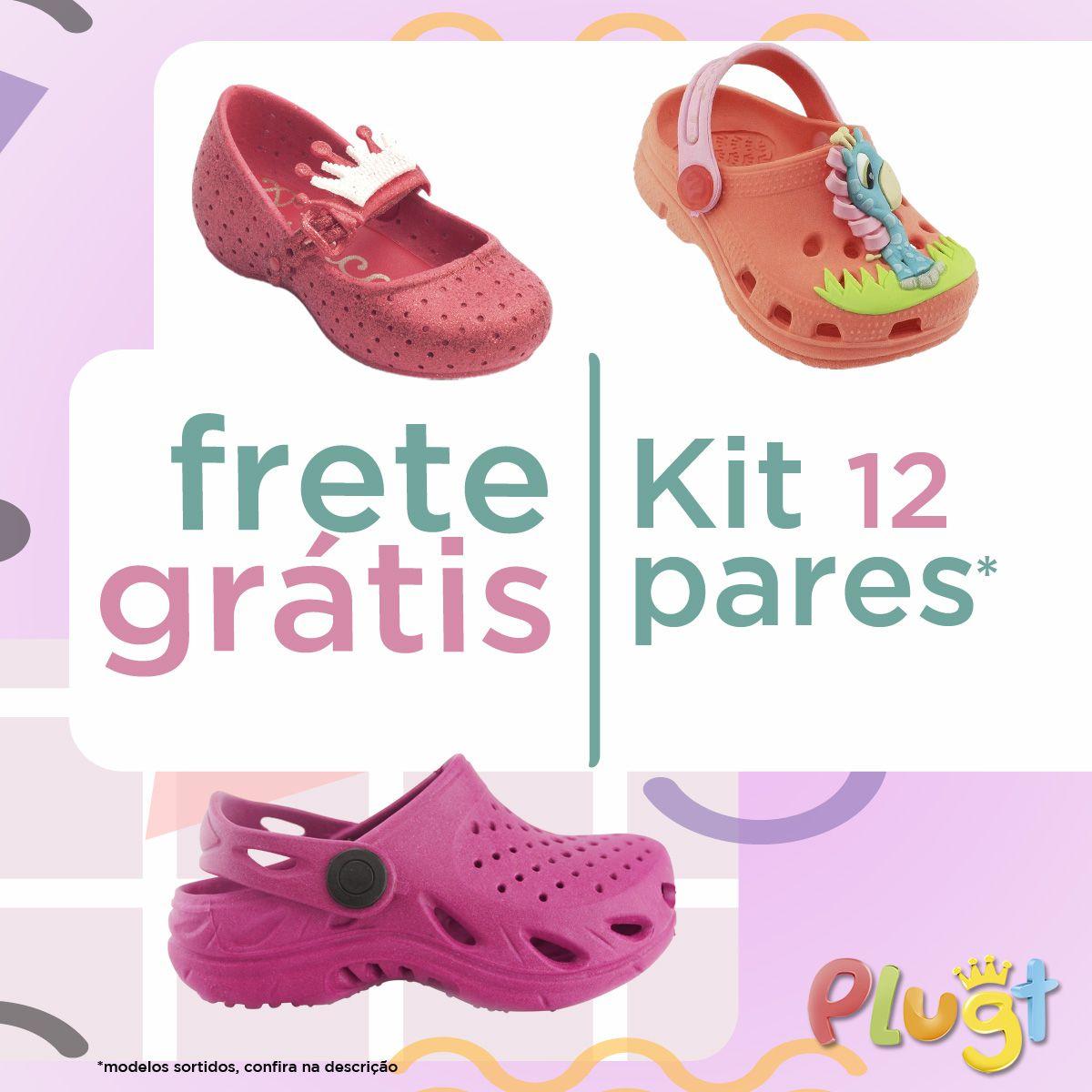 Kit Calçados Femininos - 12 Unidades - Frete Grátis