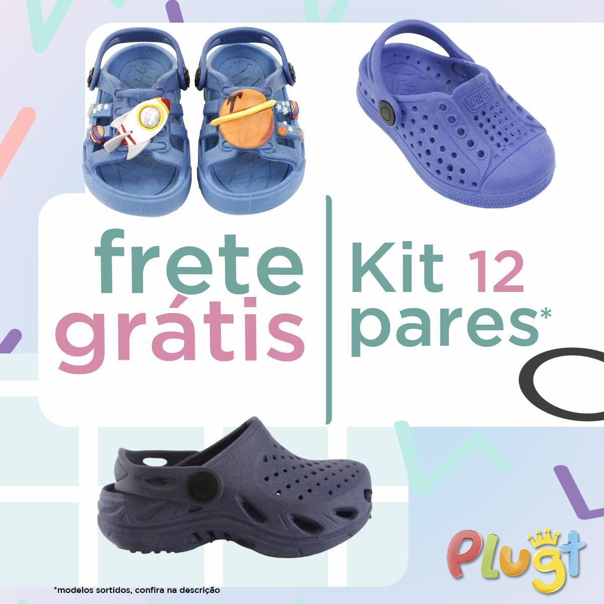 Kit Calçados Masculinos - 12 Unidades - Frete Grátis