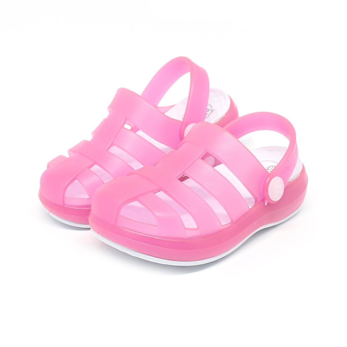 Sandália Plugt Babuche Pop Branco/Pink