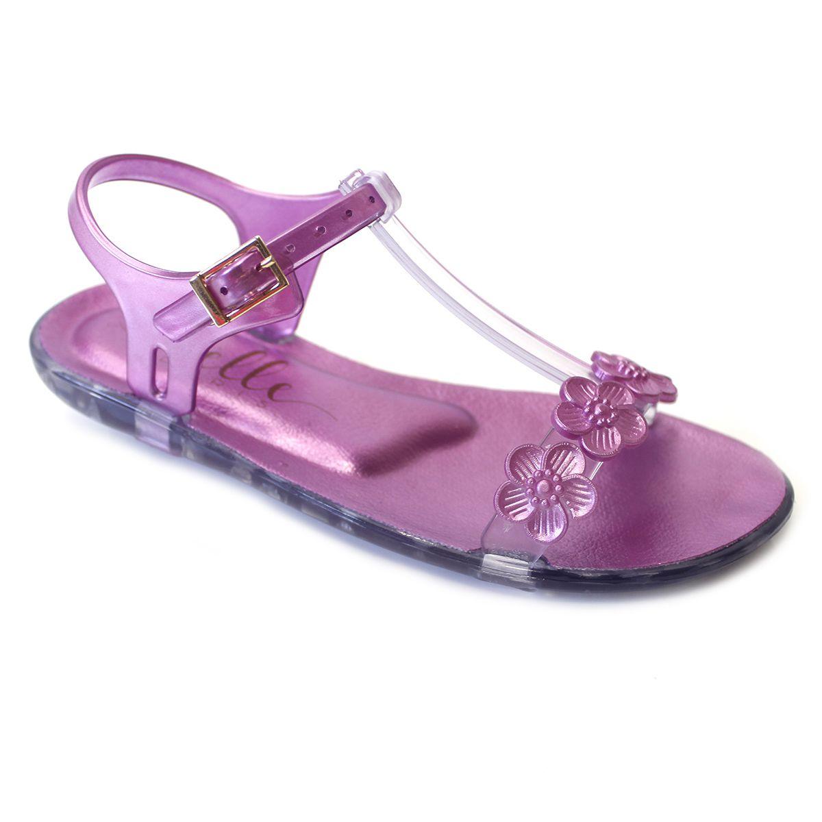 Sandália Plugt Belle Paris Flores Pink
