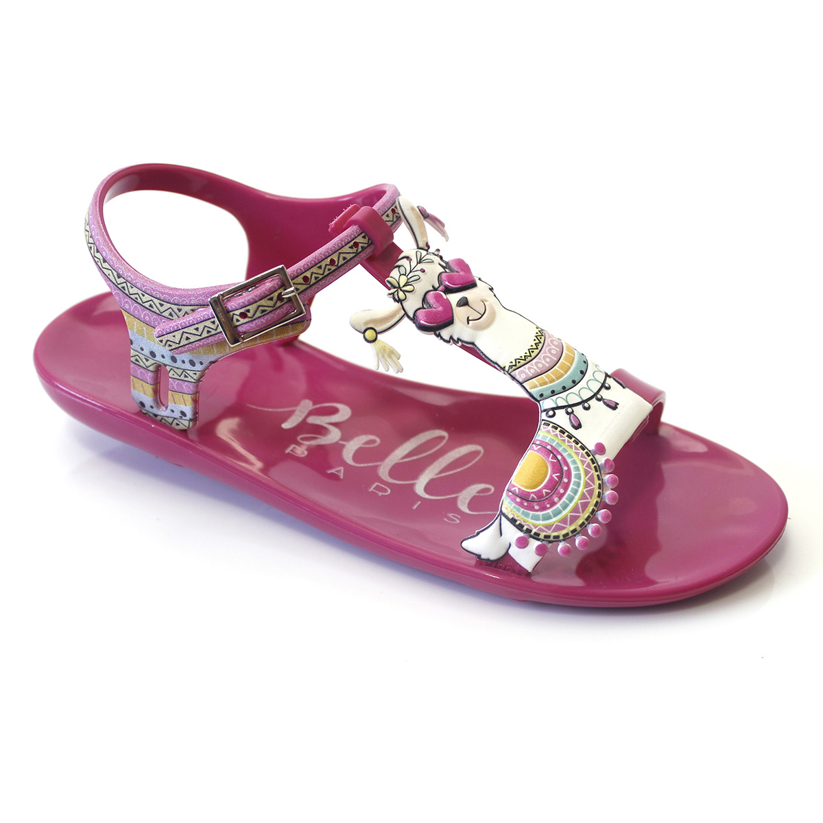 Sandália Plugt Belle Paris Lhama Pink/Laranja