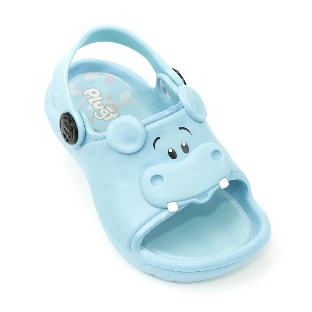 Sandália Plugt Bichinho hipopótamo Azul
