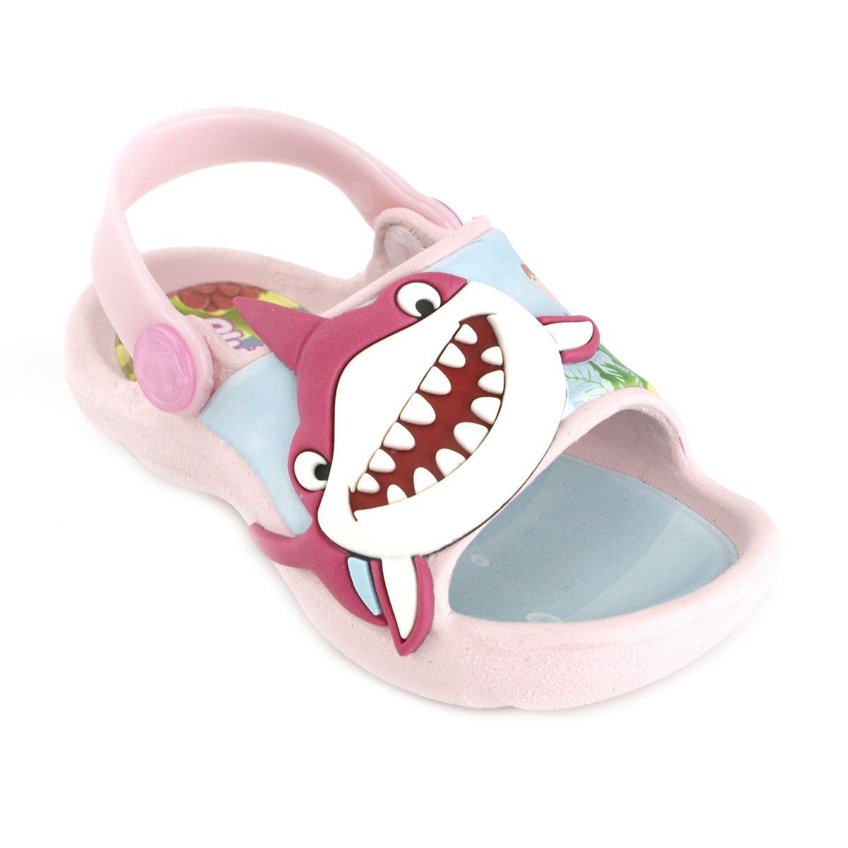 Sandália Plugt Bichinho Tubarão Rosa