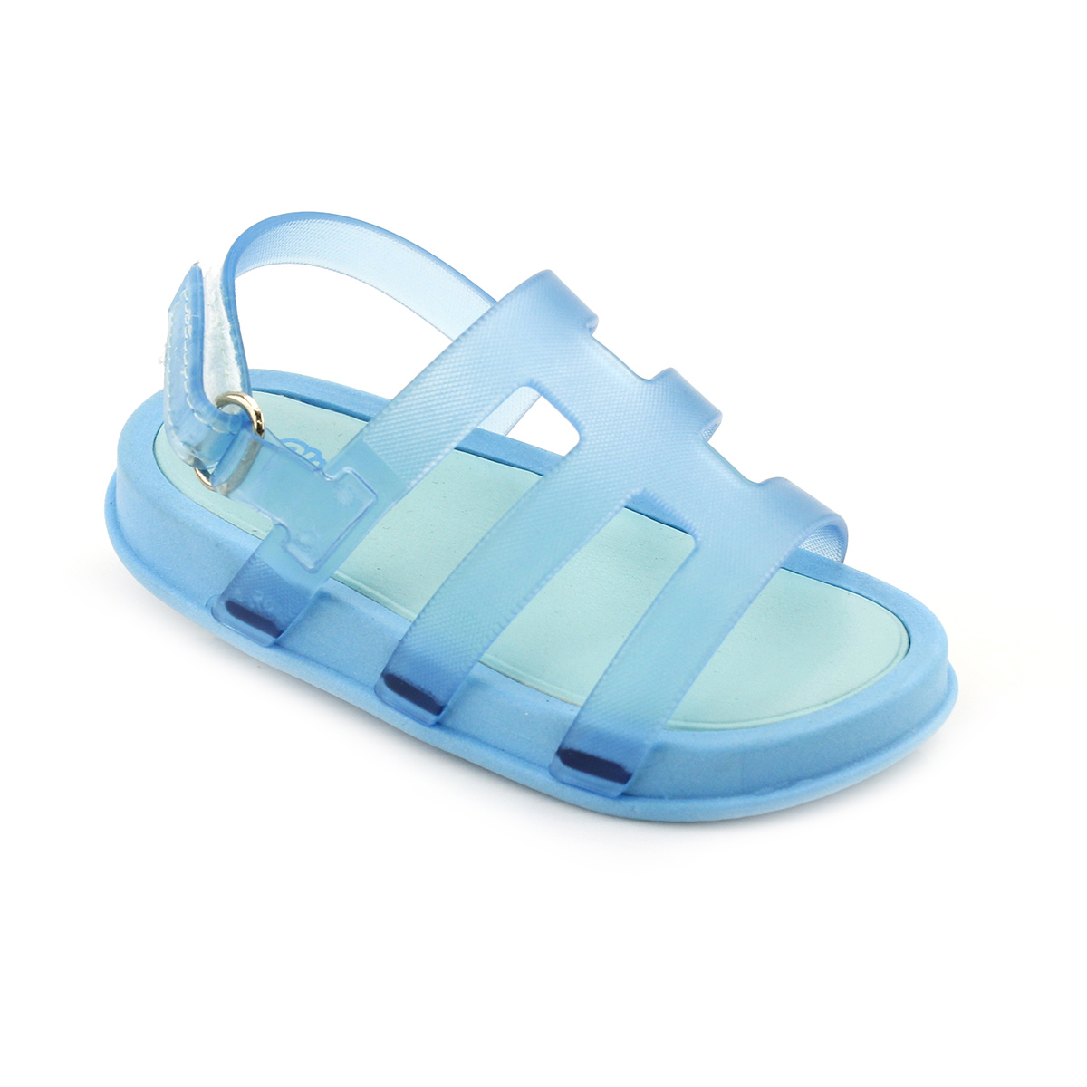 Sandália Plugt Mini Bizz Azul Neon