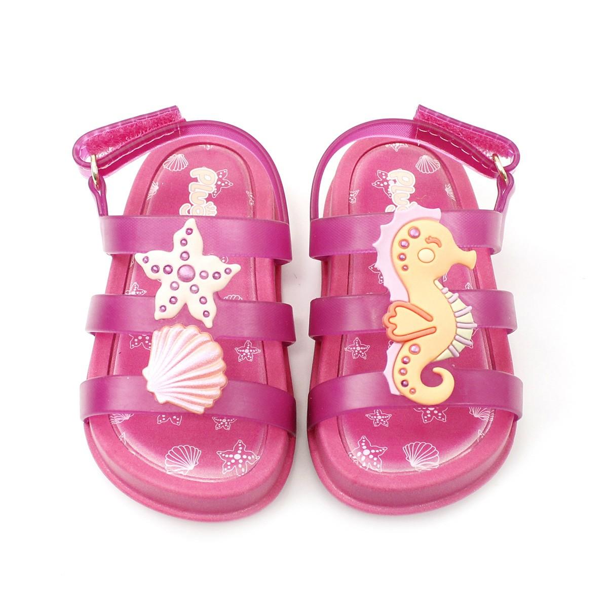 Sandália Plugt Mini Bizz Fundo do Mar Pink