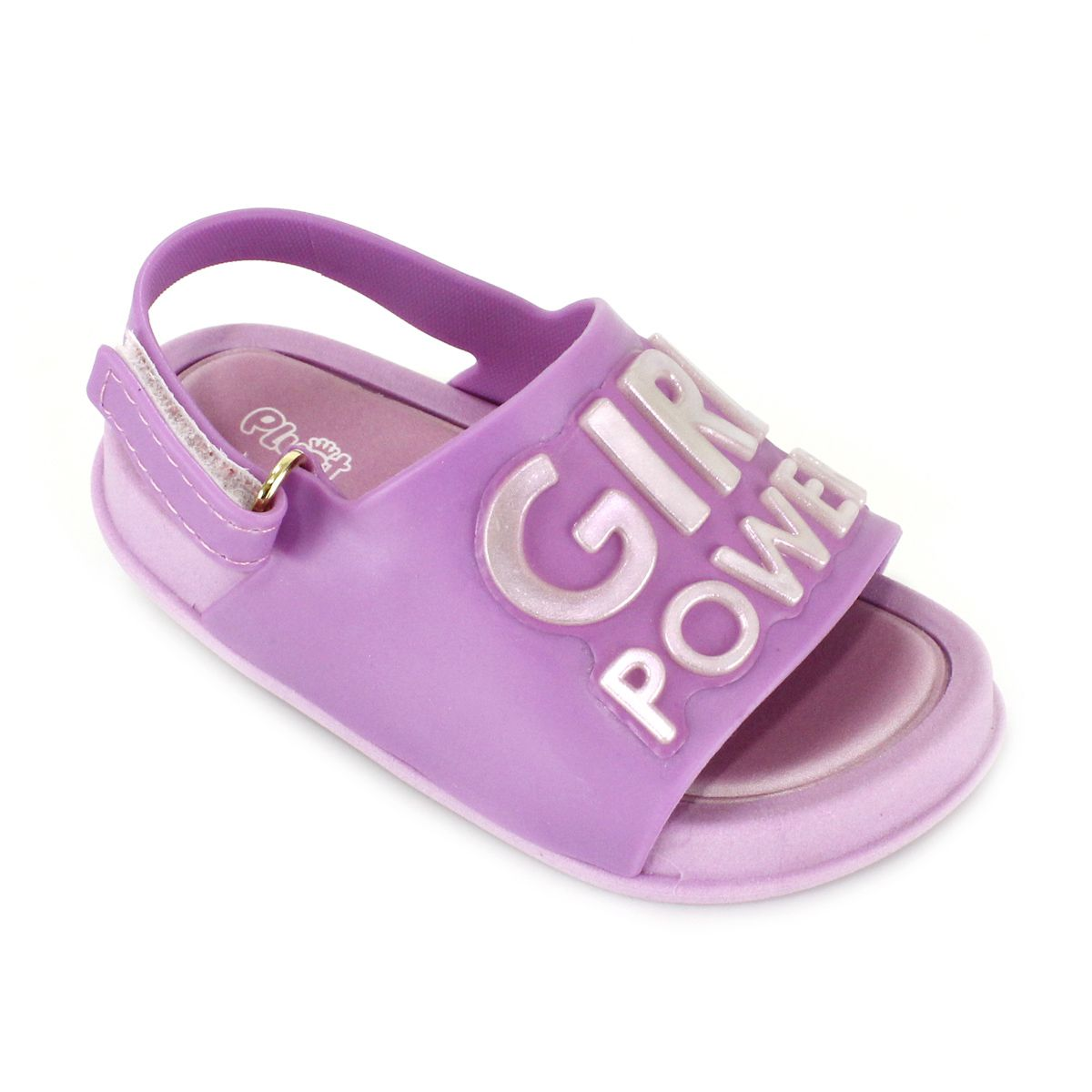 Sandália Plugt Mini Bizz Girl Power Rosa Infantil