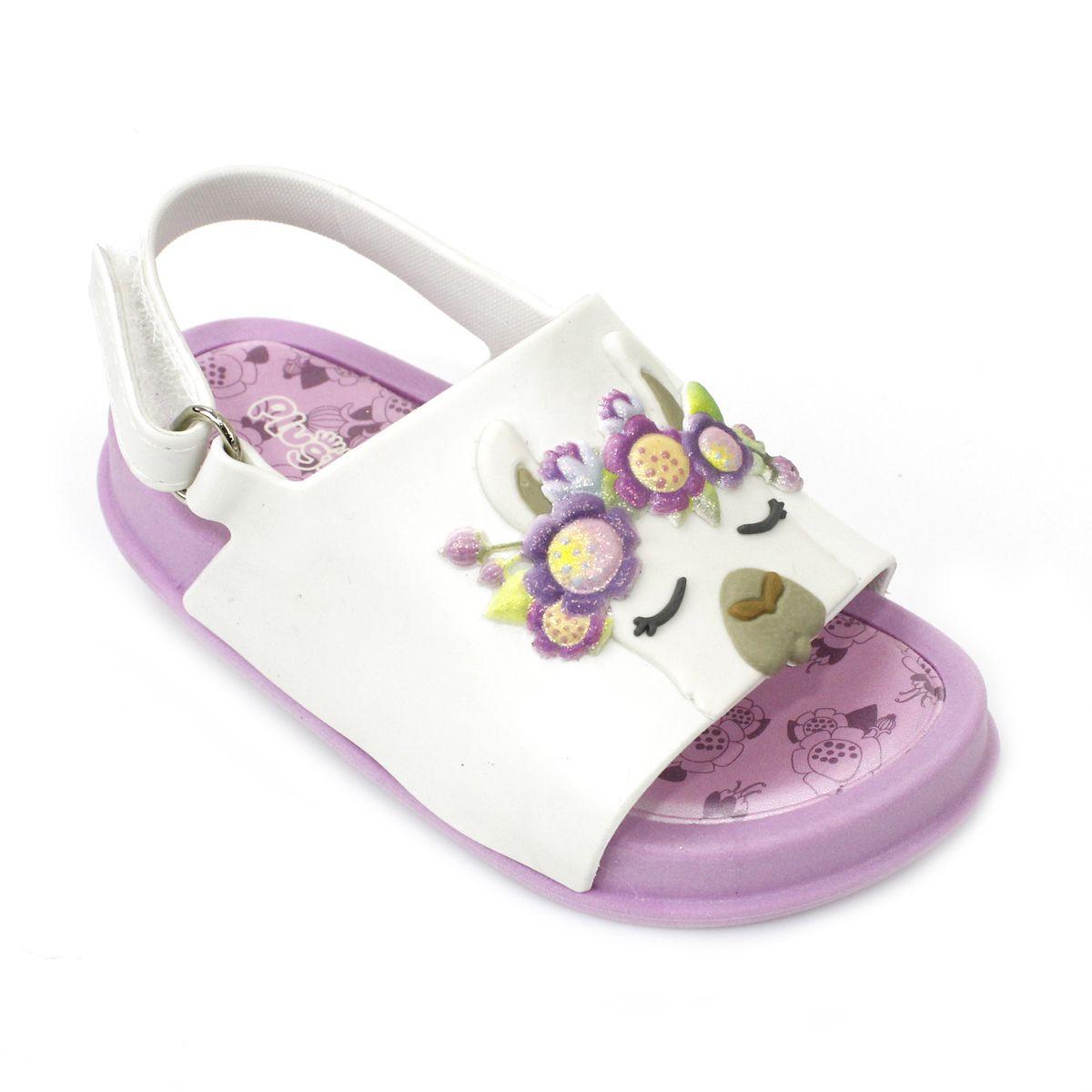 Sandália Plugt Mini Bizz Lhama Rosa