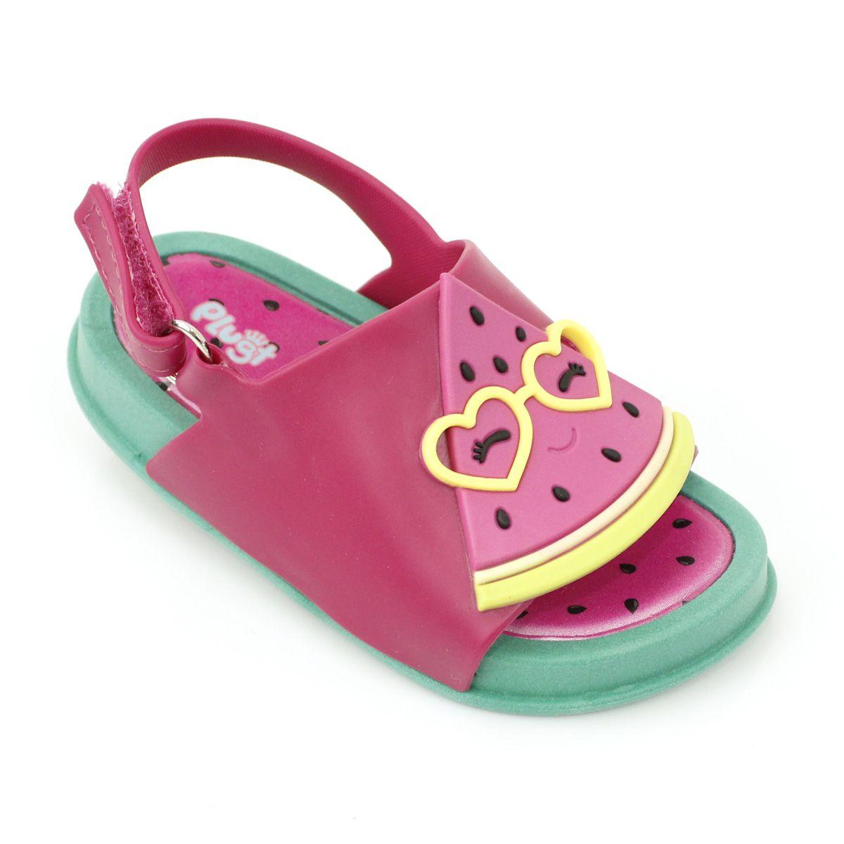 Sandália Plugt Mini Bizz Melancia