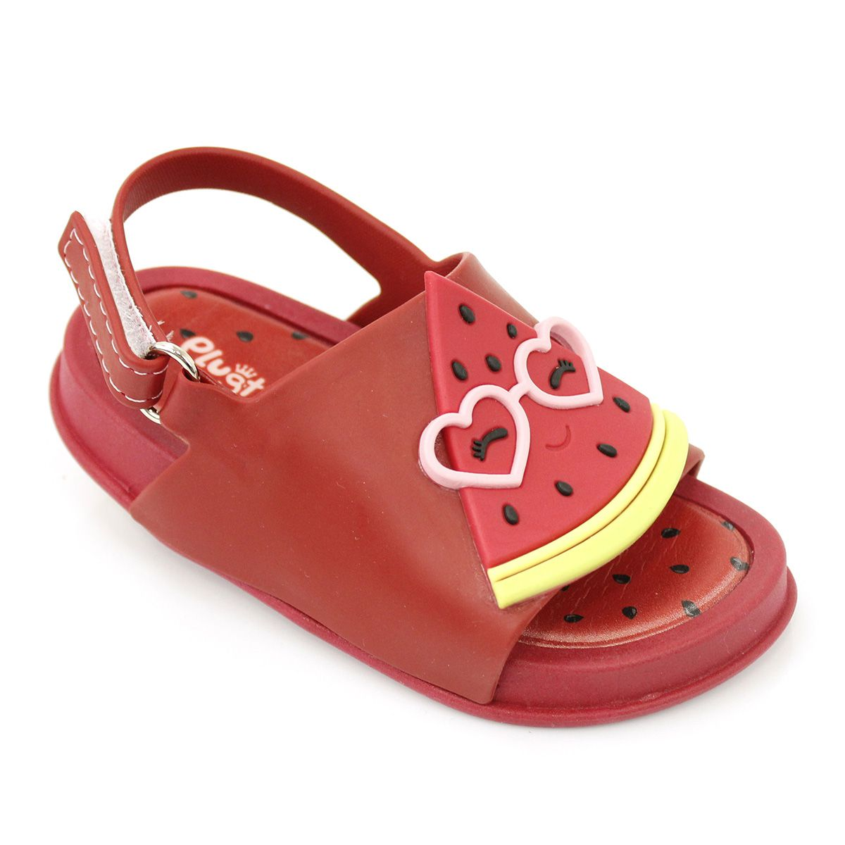 Sandália Plugt Mini Bizz Melancia Vermelho