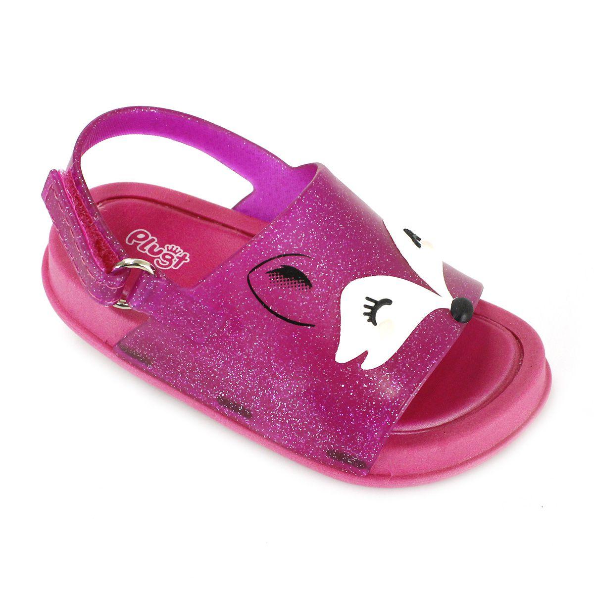 Sandália Plugt Mini Bizz Raposa Pink