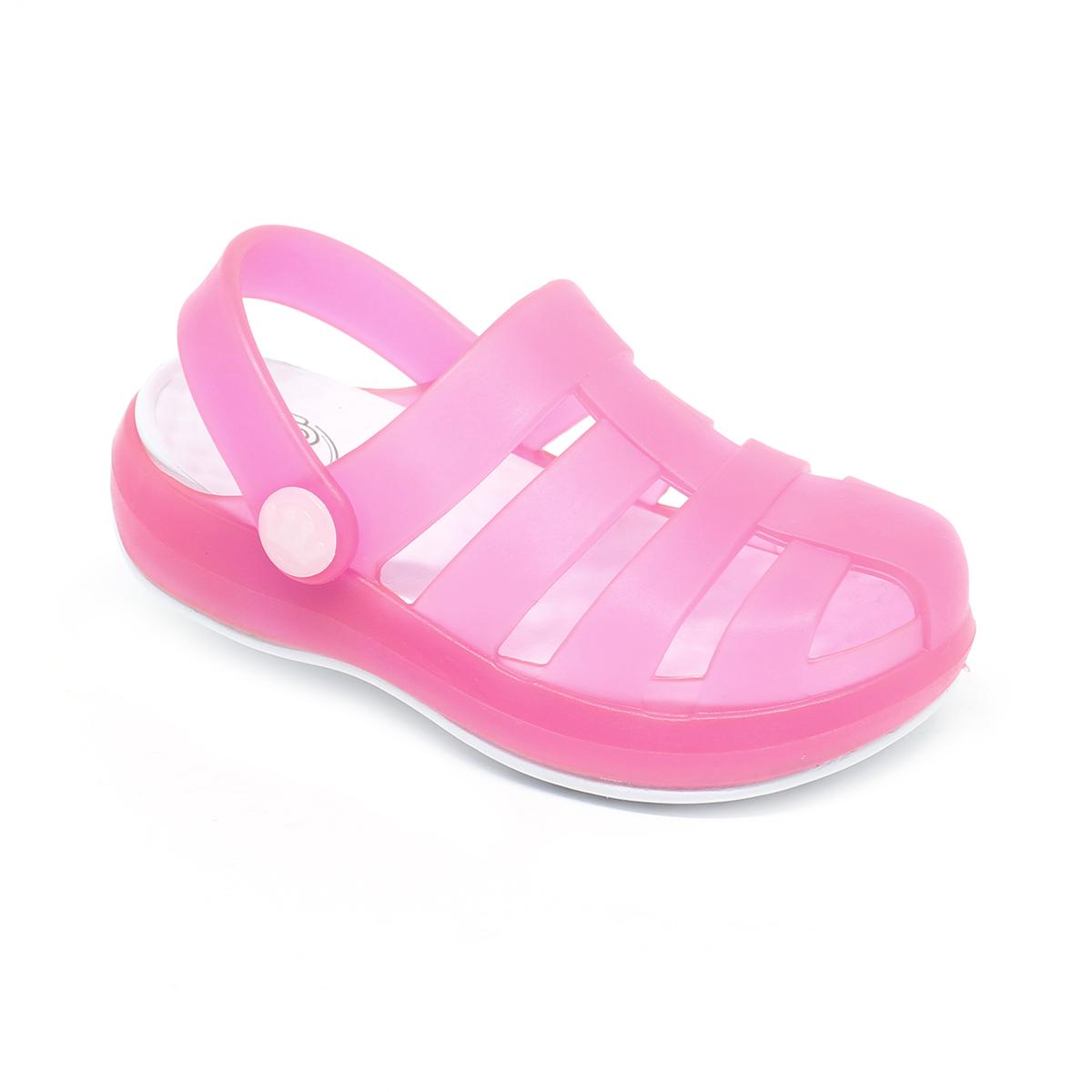 Babuche Sandália Plugt Pop Gelo/Pink