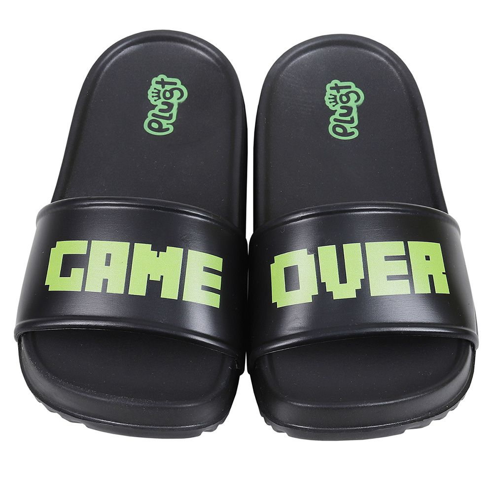 Chinelo Plugt Slide Game Over Preto