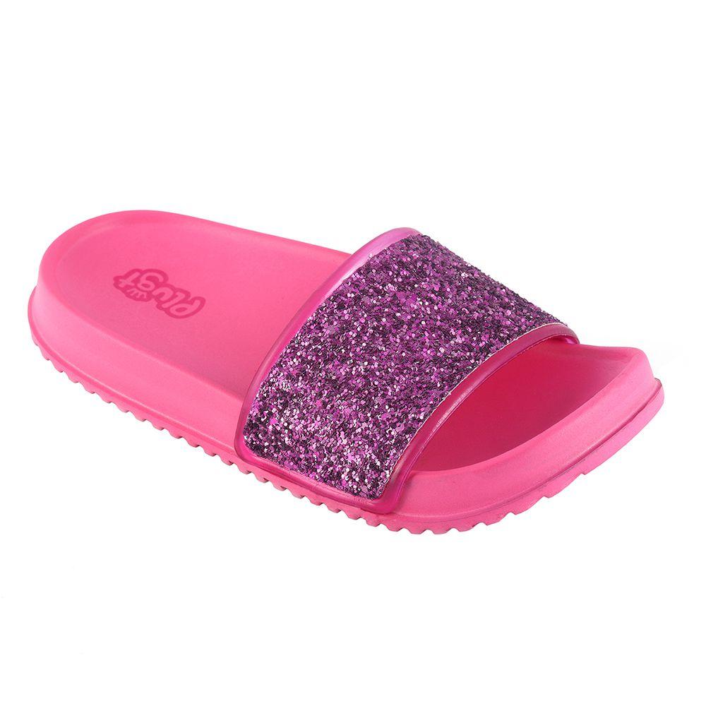 Chinelo Plugt Slide Gliter Pink