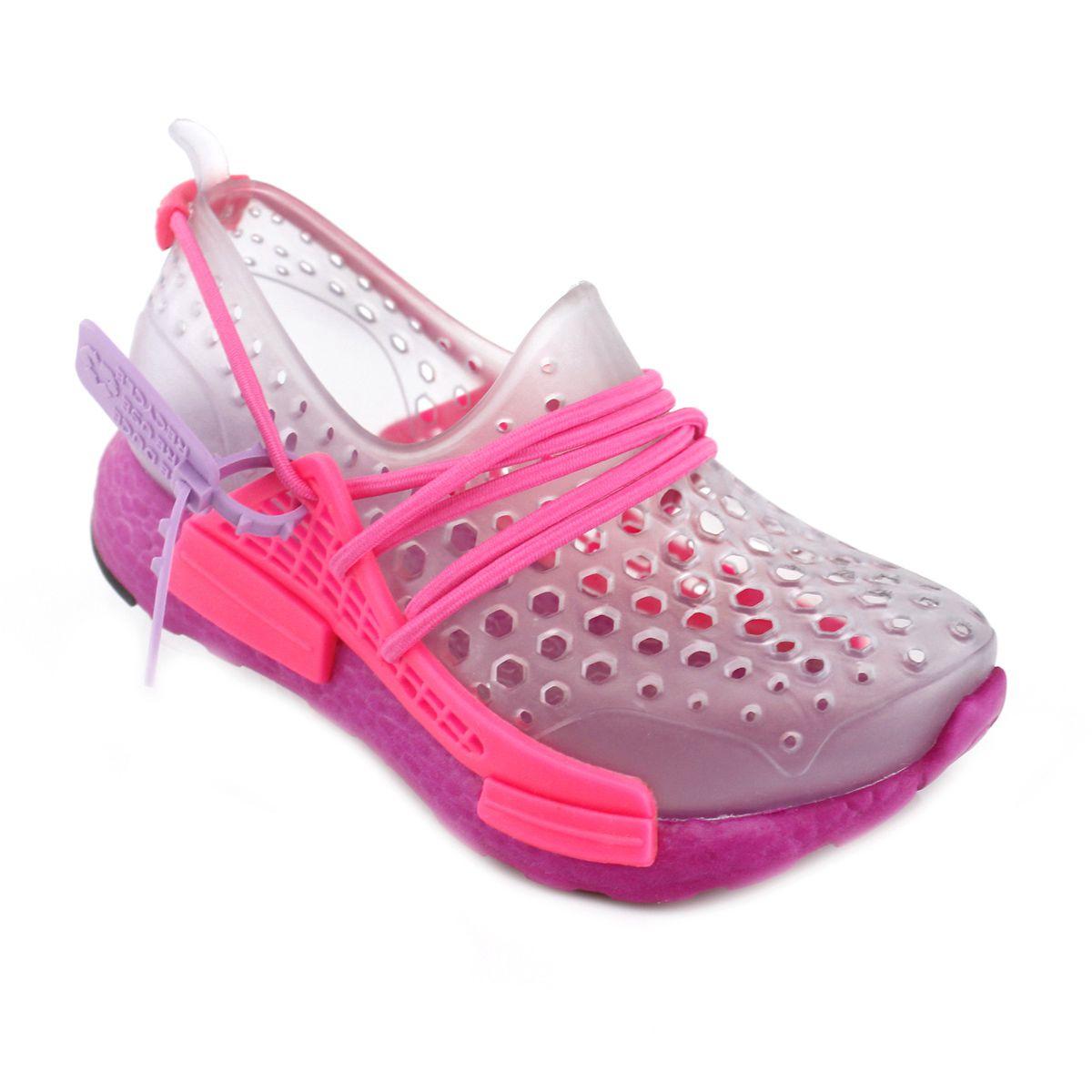 Tênis Feminino Plugt Hype Infantil Transparente/Pink