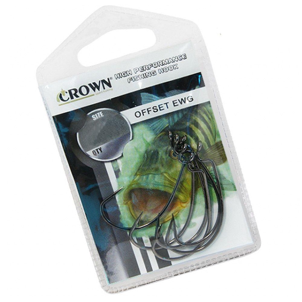 Anzol Crown In Offset EWG - Tamanho 6/0