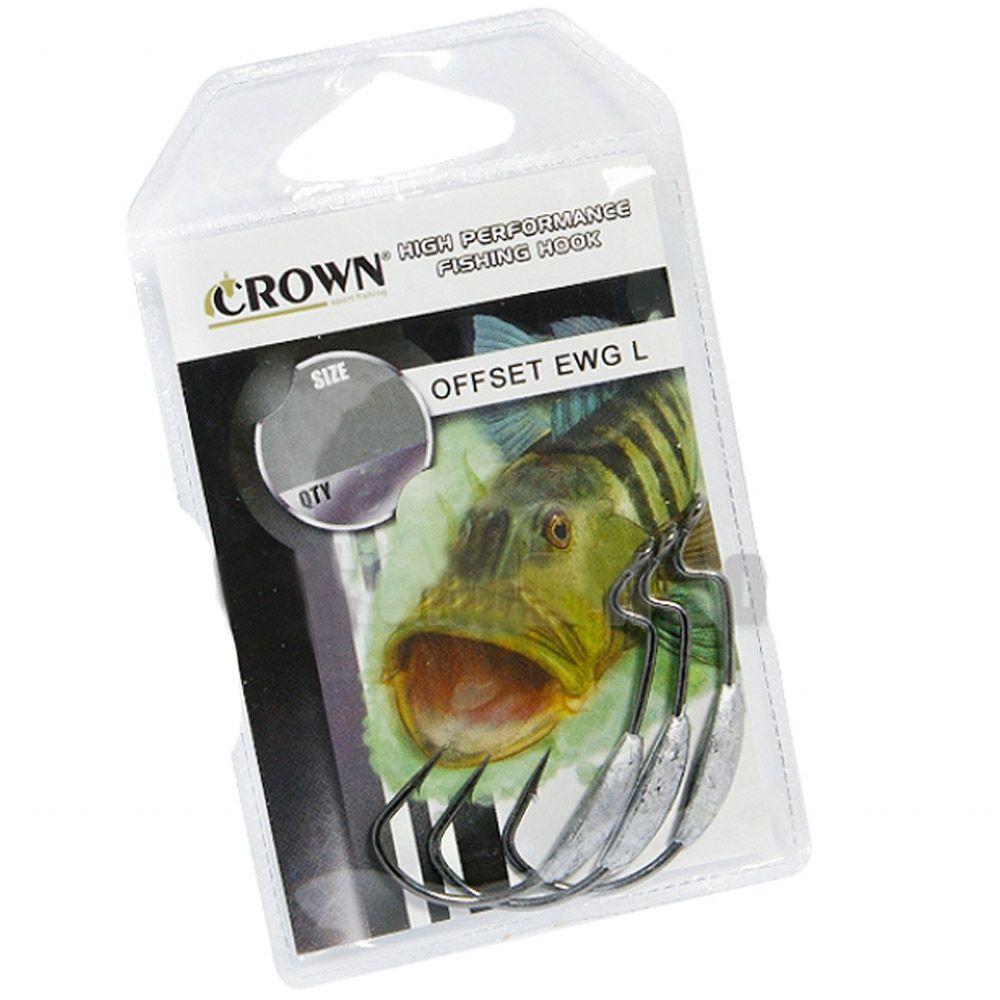 Anzol Crown Offset EWG c/ Lastro - Tamanho 3/0