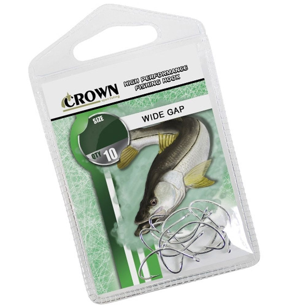 Anzol Crown Wide Gap - Tamanho 1/0