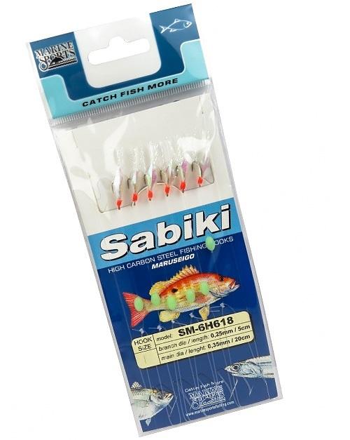 Anzol Sabiki SM-6H618 - Tamanho 14
