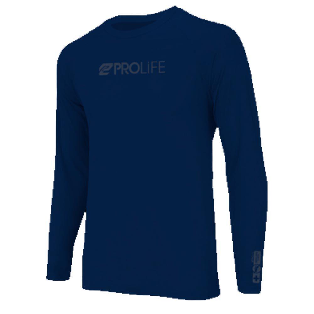 Blusa Repelente ProLife Uv Masculina FPS 50+ - Marinho
