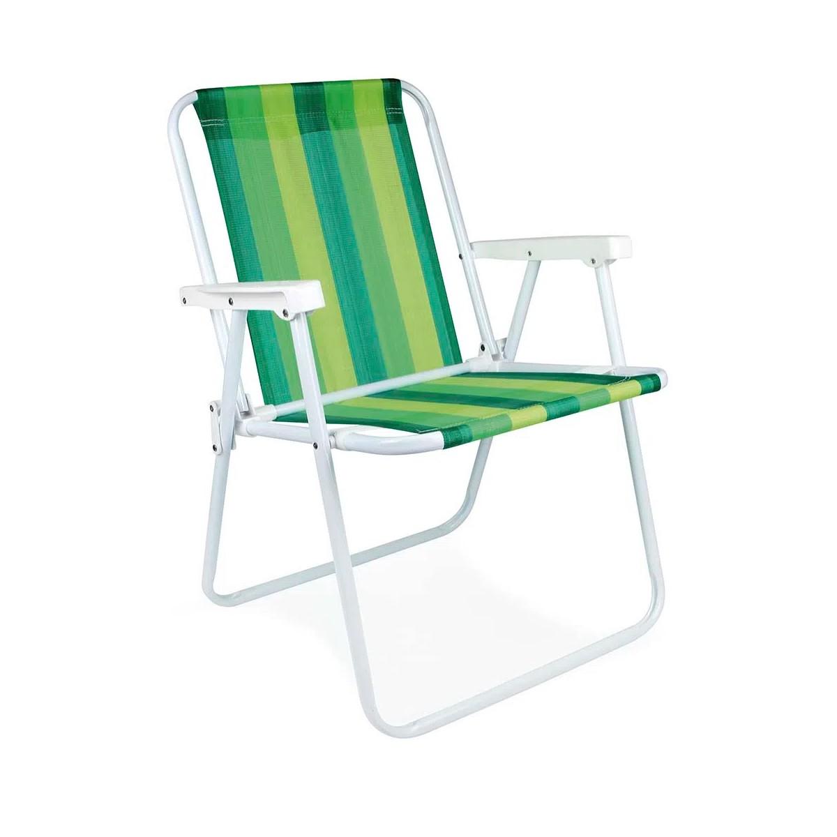 Cadeira Alta Dobrável Aço Mor - Cores Diversas