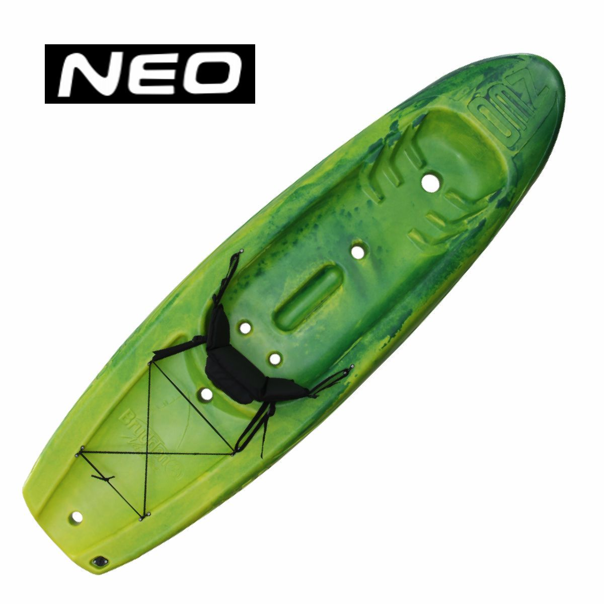 Caiaque Brudden NEO - Verde com Amarelo