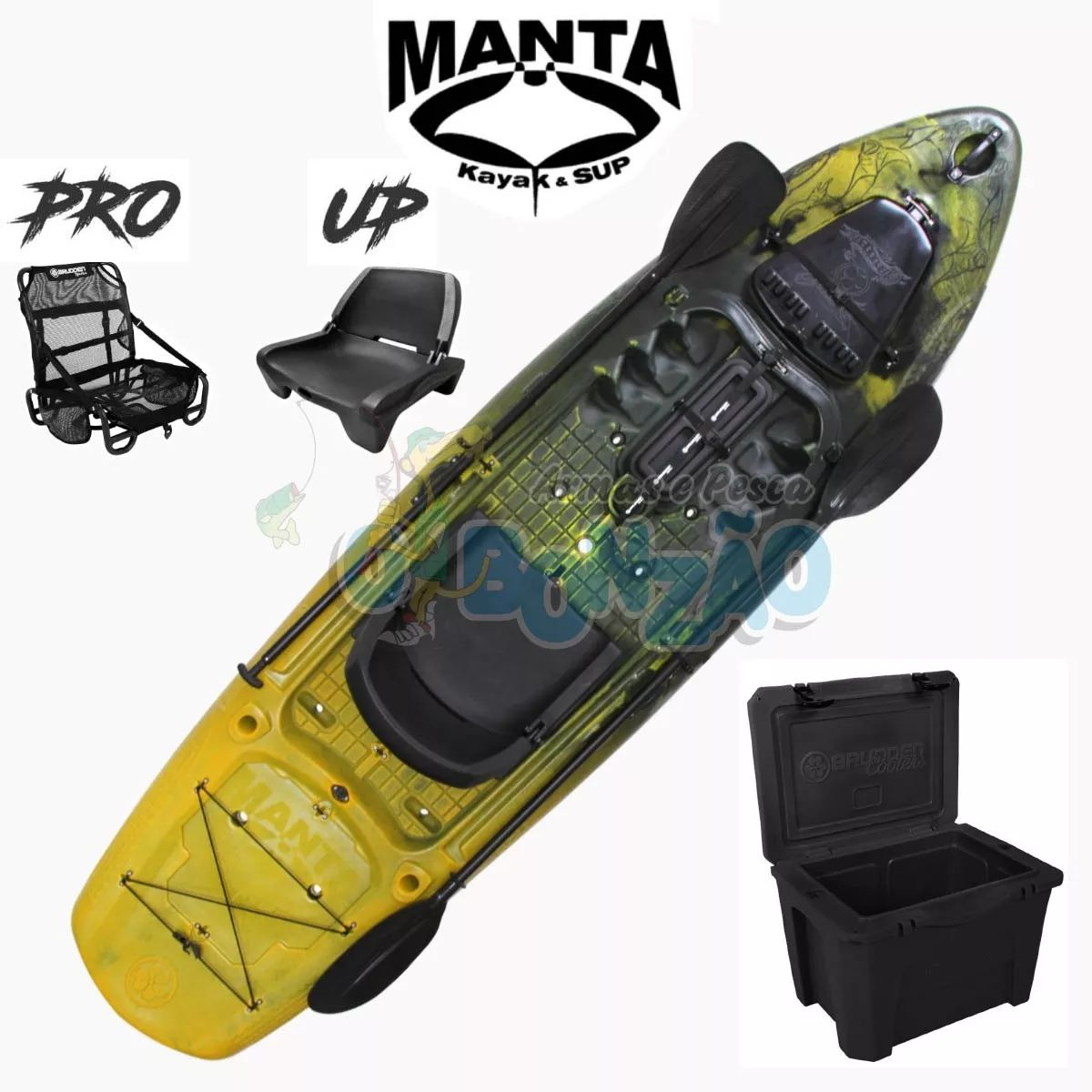 Caiaque Brudden Stand UP Manta Fishing Combo - Amarula