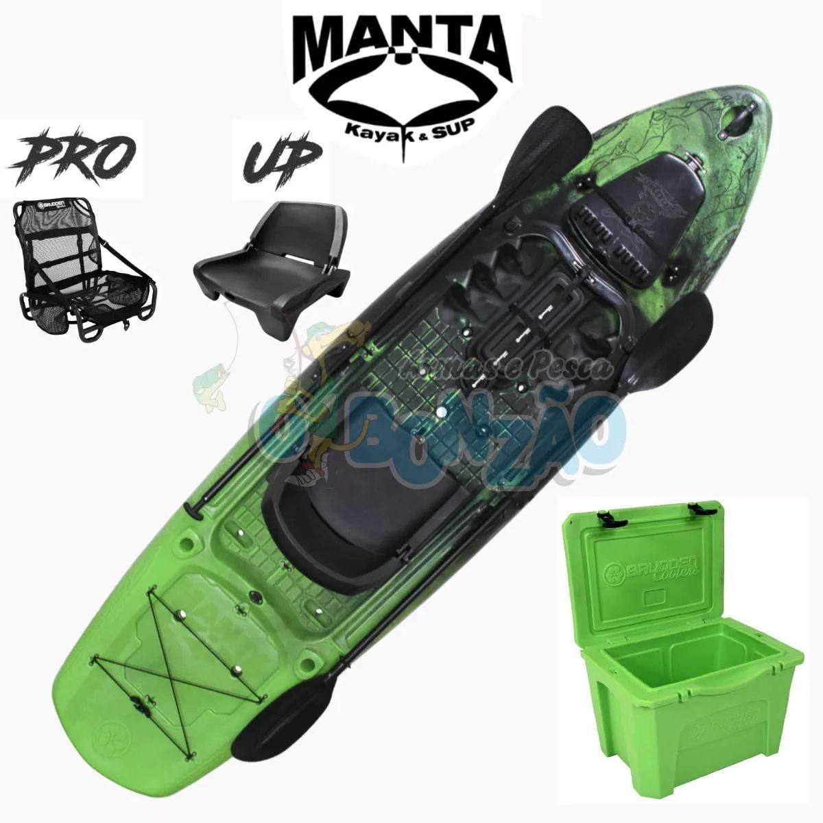 Caiaque Brudden Stand UP Manta Fishing Combo - Lima