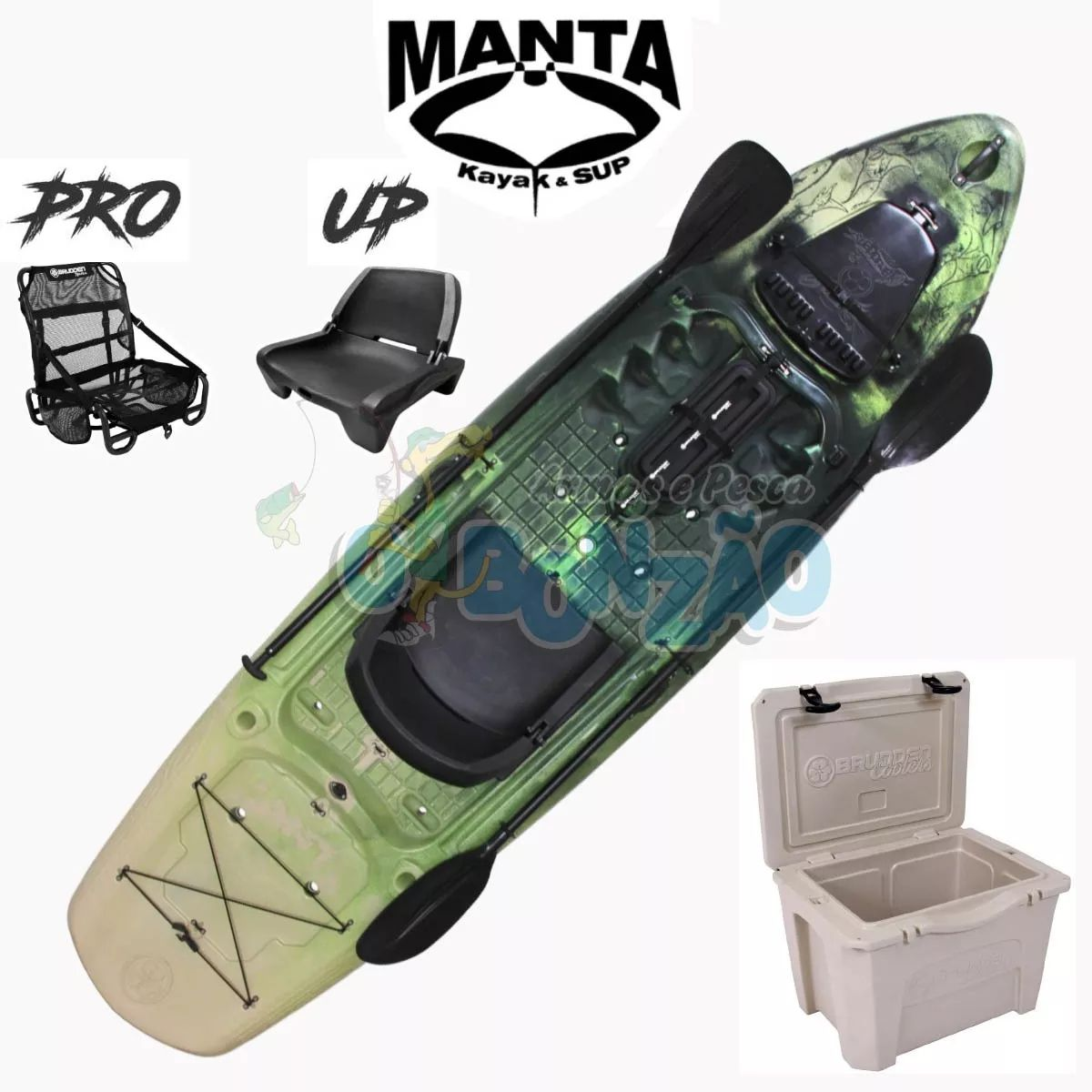 Caiaque Brudden Stand UP Manta Fishing Combo - Trio