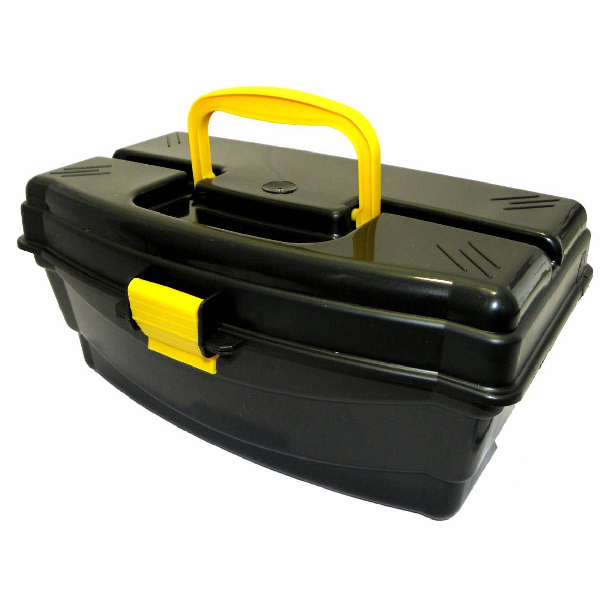 Caixa De Pesca HI - 1 Bandeja - Preta