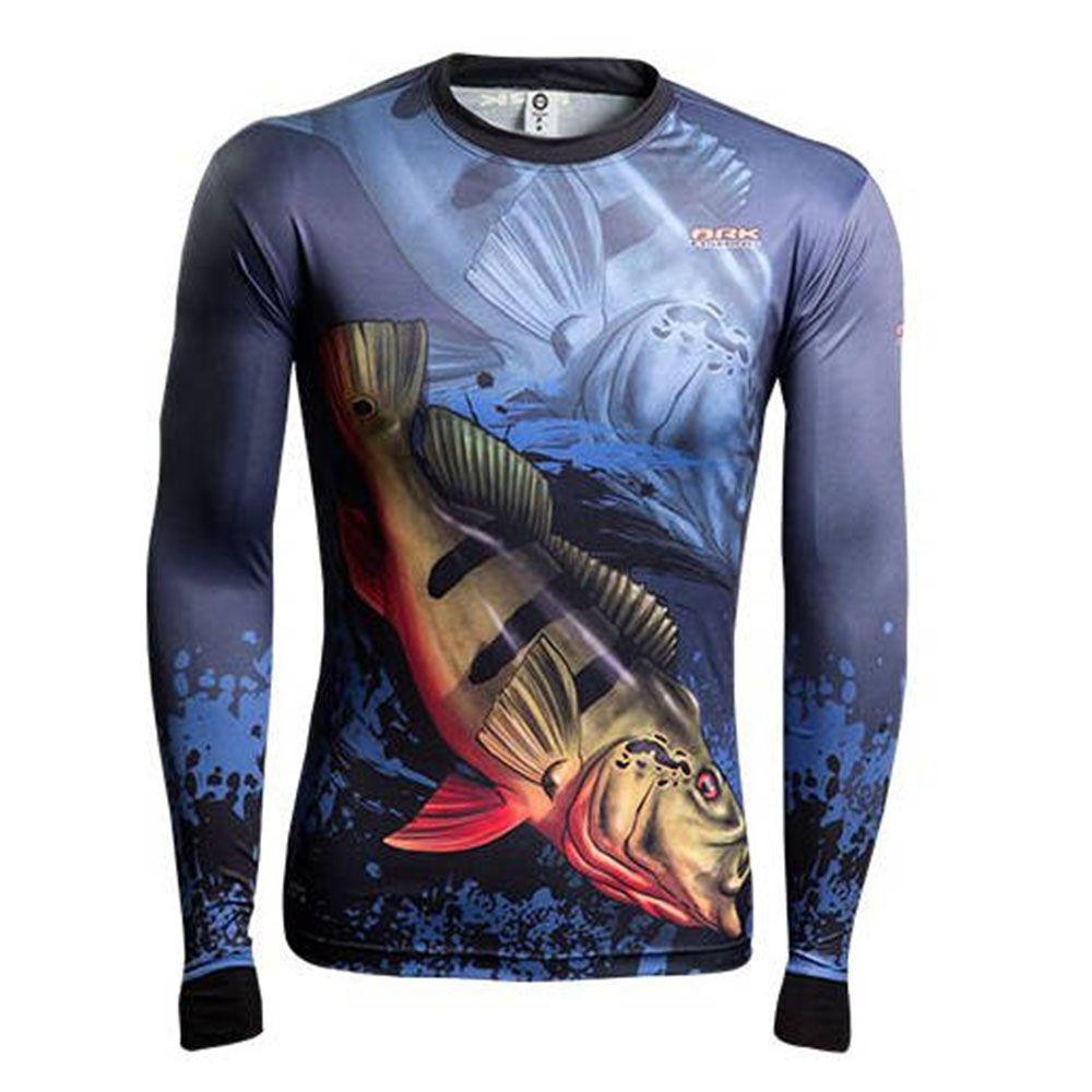 Camisa de Pesca BRK Fishing Manga Longa FPU 50+ - Cor: Açu