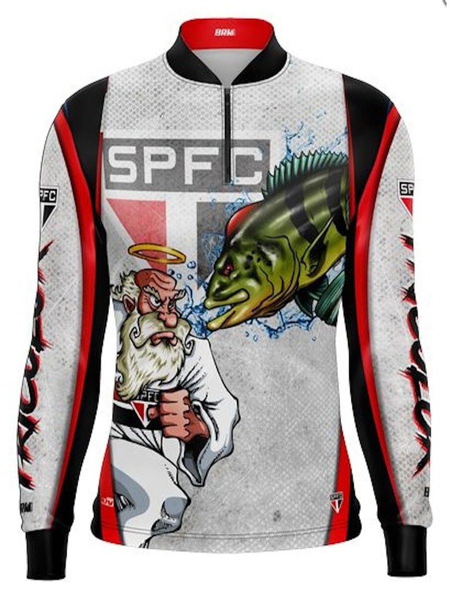Camisa de Pesca BRK Fishing Tucunaré Futebol 04 com FPS 50+