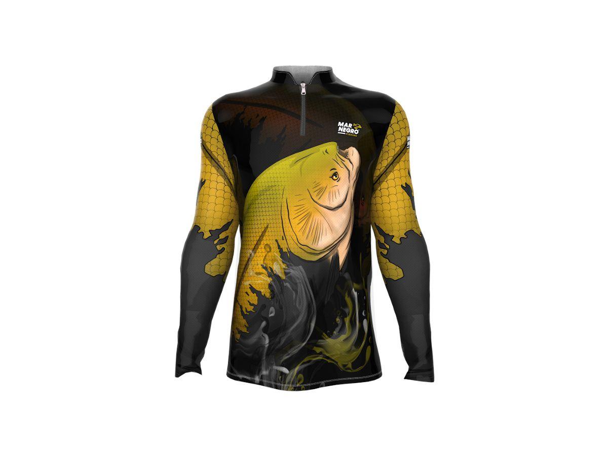 Camisa de Pesca Mar Negro Tambaqui Masculina UV 50+