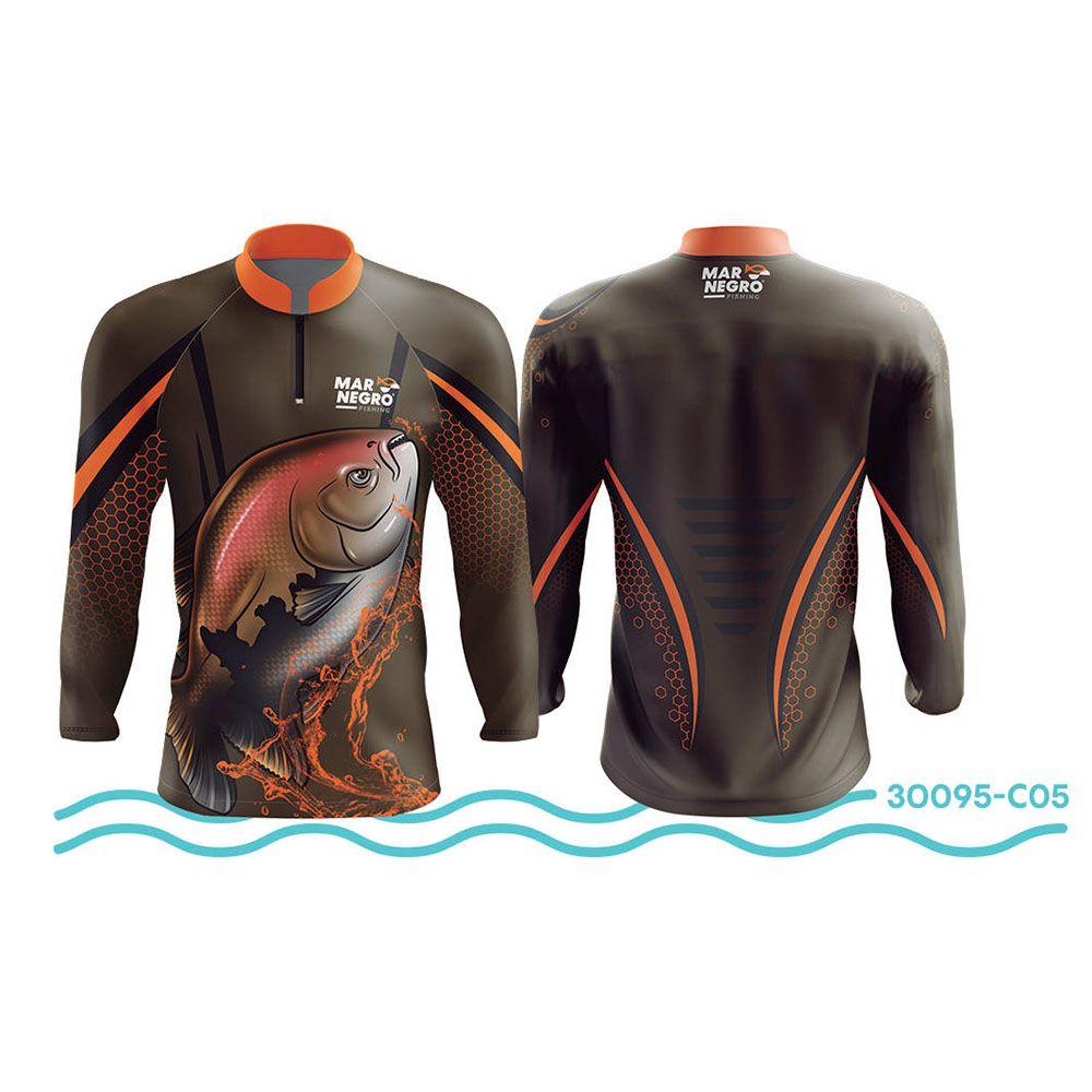 Camisa de Pesca Mar Negro Verde Musgo UV 50+