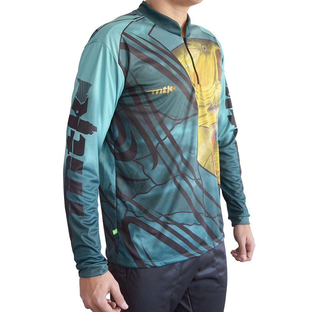 Camisa MTK Atack Z Azul Claro - Dourado Masculina