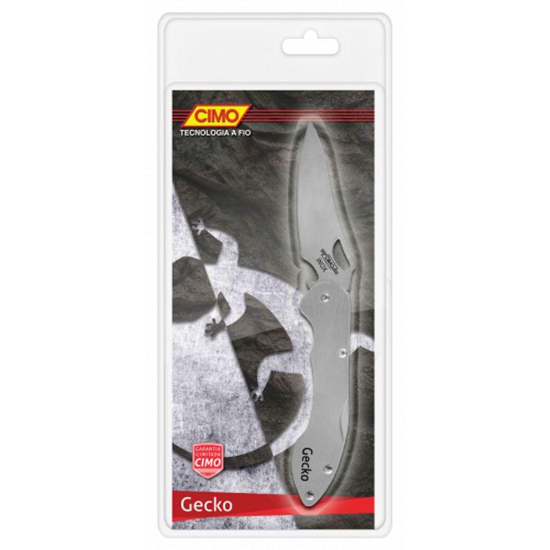 Canivete Gecko Cimo Inox 420c com Trava e Clip de Bolso
