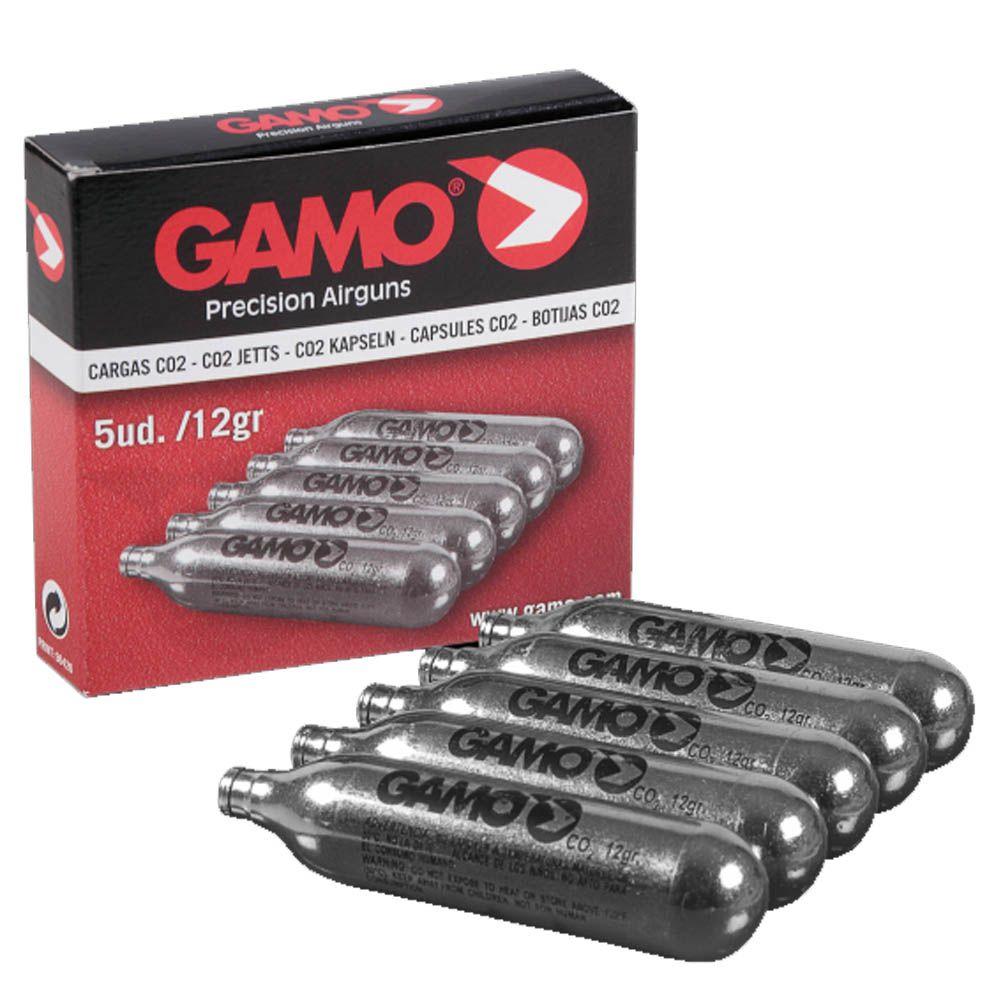 Capsula de CO2 12g Gamo - Caixa com 5 unidades