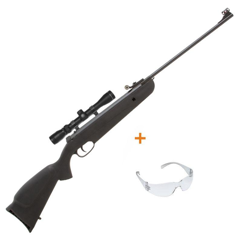 Carabina de Pressão Rossi Plus 5,5mm c/ Luneta 4x32 + Óculos de Proteção