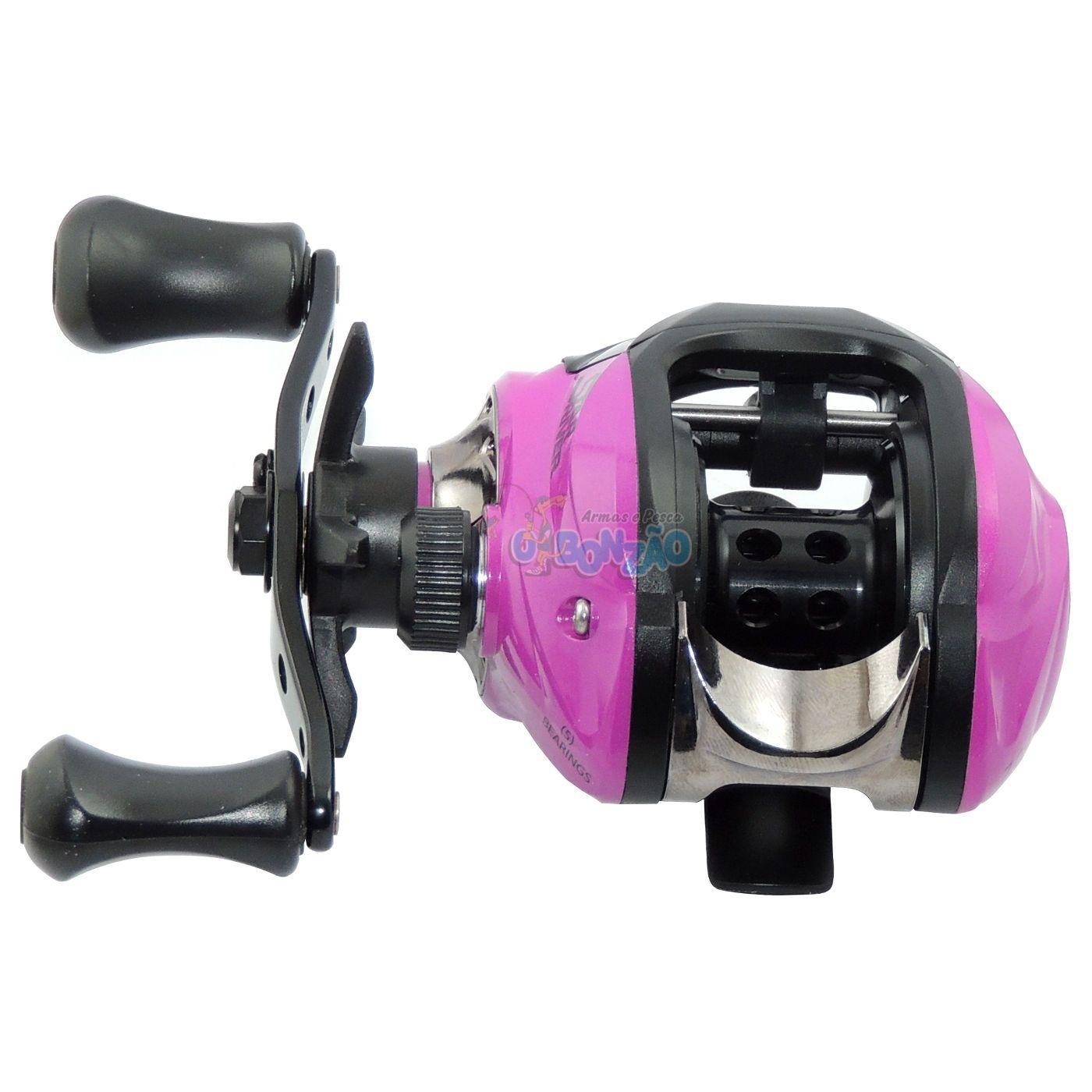 Carretilha Star River Pink Fish LH - Esquerda - 5 Rolamentos
